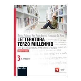 LETTERATURA-TERZO-MILLENNIO-EDIZIONE-ROSSA-VOLUME-IL-NOVECENTO