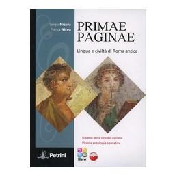 PRIMAE-PAGINAE-VOLUME-UNICO-VOCABOLARIO-CON-CDROM