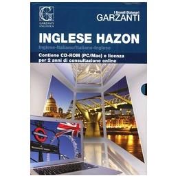 GRANDE-DIZIONARIO-HAZON-INGLESE-LICENZA-LINE-ANNI--Vol